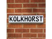 Vintage parts USA VPAY1FF4C Kolkhorst White Stamped Aluminum Street Sign Mancave Wall Art