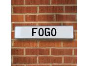 Vintage parts USA VPAY17518 Fogo White Stamped Aluminum Street Sign Mancave Wall Art