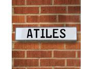 Vintage parts USA VPAYBF7F Atiles White Stamped Aluminum Street Sign Mancave Wall Art