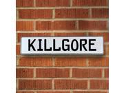 Vintage parts USA VPAY1FAE0 Killgore White Stamped Aluminum Street Sign Mancave Wall Art