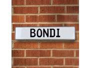 Vintage parts USA VPAYE002 Bondi White Stamped Aluminum Street Sign Mancave Wall Art