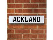 Vintage parts USA VPAYB649 Ackland White Stamped Aluminum Street Sign Mancave Wall Art