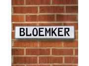 Vintage parts USA VPAYDD8F Bloemker White Stamped Aluminum Street Sign Mancave Wall Art