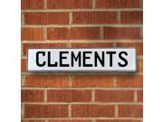 Vintage parts USA VPAY13361 Clements White Stamped Aluminum Street Sign Mancave Wall Art