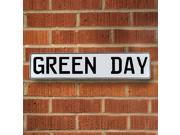 Vintage parts USA VPAY1A24 GREEN DAY White Stamped Street Sign Mancave Wall Art