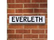 Vintage parts USA VPAY16DBA Everleth White Stamped Aluminum Street Sign Mancave Wall Art