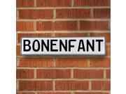 Vintage parts USA VPAYE010 Bonenfant White Stamped Aluminum Street Sign Mancave Wall Art