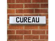 Vintage parts USA VPAY13C46 Cureau White Stamped Aluminum Street Sign Mancave Wall Art