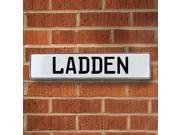 Vintage parts USA VPAY20584 Ladden White Stamped Aluminum Street Sign Mancave Wall Art