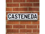 Vintage parts USA VPAY12D64 Casteneda White Stamped Aluminum Street Sign Mancave Wall Art