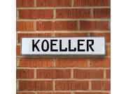 Vintage parts USA VPAY1FEB4 Koeller White Stamped Aluminum Street Sign Mancave Wall Art