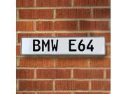 Vintage parts USA VPAY2361 BMW E64 White Stamped Street Sign Mancave Wall Art