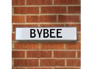 Vintage parts USA VPAYEB4E Bybee White Stamped Aluminum Street Sign Mancave Wall Art