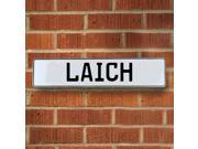 Vintage parts USA VPAY20638 Laich White Stamped Aluminum Street Sign Mancave Wall Art