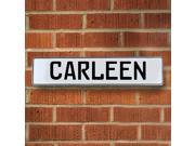 Vintage parts USA VPAY1269E Carleen White Stamped Aluminum Street Sign Mancave Wall Art