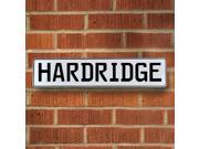 Vintage parts USA VPAY1B555 Hardridge White Stamped Aluminum Street Sign Mancave Wall Art
