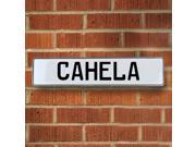 Vintage parts USA VPAY12897 Cahela White Stamped Aluminum Street Sign Mancave Wall Art