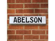 Vintage parts USA VPAYB5AE Abelson White Stamped Aluminum Street Sign Mancave Wall Art