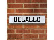 Vintage parts USA VPAY15AF1 Delallo White Stamped Aluminum Street Sign Mancave Wall Art