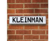 Vintage parts USA VPAY1FCE9 Kleinman White Stamped Aluminum Street Sign Mancave Wall Art