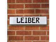 Vintage parts USA VPAY20C16 Leiber White Stamped Aluminum Street Sign Mancave Wall Art