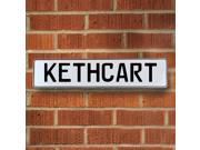 Vintage parts USA VPAY1F9DF Kethcart White Stamped Aluminum Street Sign Mancave Wall Art