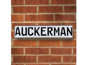 Vintage parts USA VPAYBFBE Auckerman White Stamped Aluminum Street Sign Mancave Wall Art