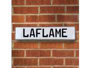 Vintage parts USA VPAY205C2 Laflame White Stamped Aluminum Street Sign Mancave Wall Art