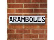 Vintage parts USA VPAYBCE3 Aramboles White Stamped Aluminum Street Sign Mancave Wall Art