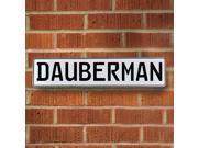Vintage parts USA VPAY1586F Dauberman White Stamped Aluminum Street Sign Mancave Wall Art