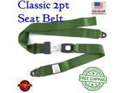 safeTboy Seat Belt New 1012933 1935 Mopar Chrysler 2pt Retro Green Certified Seat Belt bright style buckle 9SIA7GW3TC8077