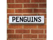 Vintage parts USA VPAY1F19 PENGUINS NHL Pittsburgh Penguins White Stamped Street Sign Mancave Wall Art 9SIA7GW60G4778