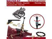 American Shifter Company ASCS1B1G11F1M 4L60 Shifter Kit 6 E Brake Cable Trim Kit Dipstick For D42C2