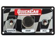 QUICKCAR RACING PRODUCTS 4-5/8 x 2-1/2 in Dash Mount Switch Panel P/N 50-033