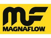 Magnaflow Performance Exhaust 10416 Stainless Steel Muffler; 4 in. Round Body; 2.5 in. Inlet/Outlet; Center Inlet/Center Outlet; 2.5 in. Core; 14 in. Body/20 in