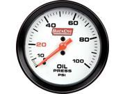 QUICKCAR RACING PRODUCTS 0-100 psi White Face Oil Pressure Gauge P/N 611-7003