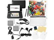 Nintendo 3DS XL Black Bundle with Super Smash Bros & 17 in 1 Kit