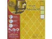 Iron Lattice Wall & Floor Stencil