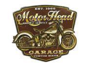Motor Head Cycle Die Cut Tin Sign 9SIA7JB2RB0392