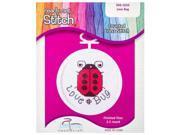 Ladybug Mini Counted Cross Stitch Kit 9SIA7JB3ME1848