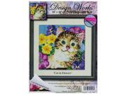 Cat in Flowers Counted Cross Stitch Kit 9SIA7JB3ME0072