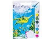 Swimming Turtle Paint by Number Kit 9SIA7JB3ME3678
