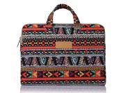 Mosiso Laptop Briefcase Bohemian Style Canvas Fabric 11 11.6 Inch Carry Case Sleeve for Acer Chromebook 11 HP Stream 11 Samsung Chromebook 2 Notebook Com