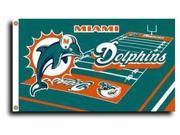 Miami Dolphins - 3' x 5' NFL Flag (Field Design) 9SIA7KF2NT2170