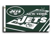 New York Jets - 3' x 5' NFL Flag (Field Design) 9SIA7KF2NT3156