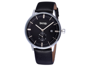 Skmei Dream Watches 30M Waterproof Auto Date 60 Seconds Business Wristwatch Leather
