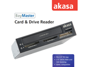 """Akasa AK-ICR-10 3.5"""" internal card reader with 4 slot memory card reade + 2.5"""" HDD dockCard Reader"""