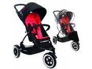 Phil & Teds DOT Stroller With Weather Cover - Chilli