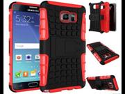 Hybrid Armor Heavy Duty Kickstand Shockproof Hard Case For Samsung Galaxy  S6 Edge
