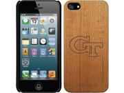Coveroo Apple iPhone SE/5/5s Wood Thinshield Case with Georgia Tech GT White, Laser Engraved Design